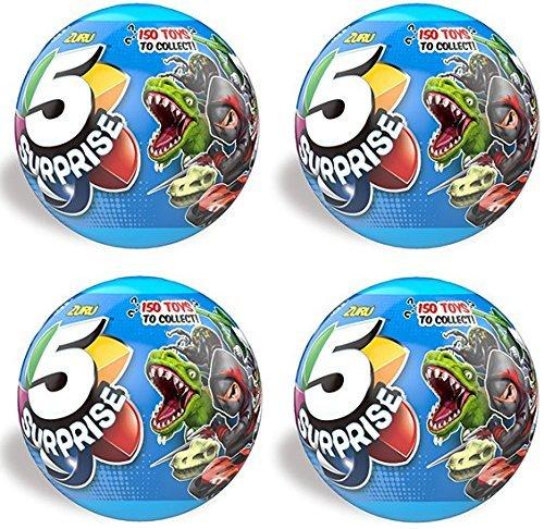 ZURU 5 SURPRISE Collectible Toy Boys Series (4 pack)