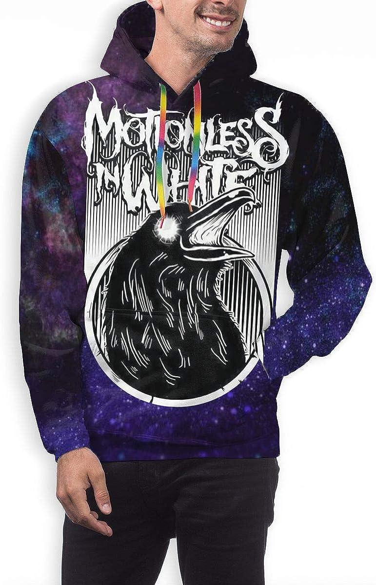 Mens Motionless in White Hoodie Sweatshirt Long Sleeve Hoodie Pullover