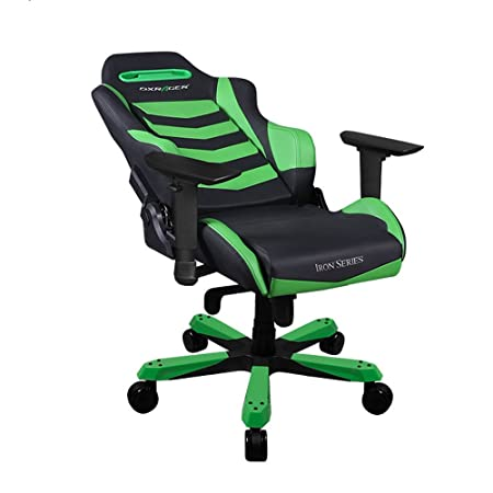 DXRacer Iron Series DOH IB166 NE Newedge Edition Racing Bucket Seat Office Chair X Large PC Gaming Chair Computer Chair Executive Chair Ergonomic Rocker With Pillows Black Green