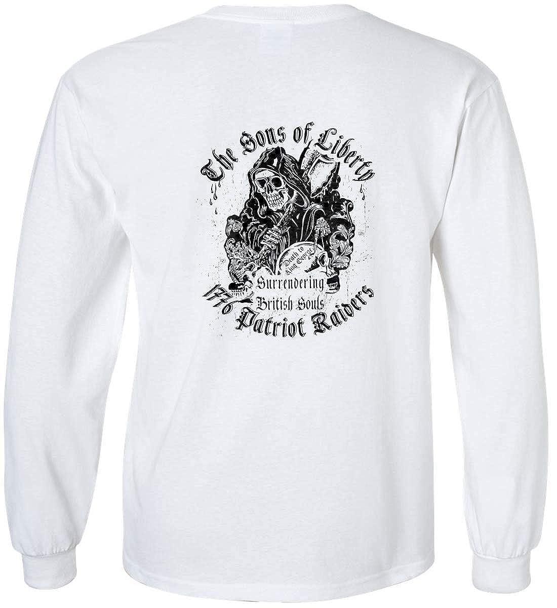Sons Of Liberty 1776 Patriot Raiders Black Print Long Sleeve.