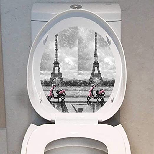 Auraise-home Toilet Seat Decal Vinyl Moon Stars in Decal Sticker Toilet Decoration W13 x L16 Exterior Accessories