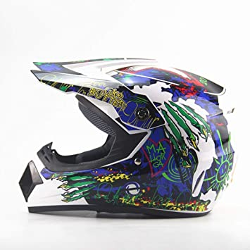 LKJH Casco, Four Seasons Motocicleta Off-Road Hombres y Mujeres Mountain Bike Cara Completa