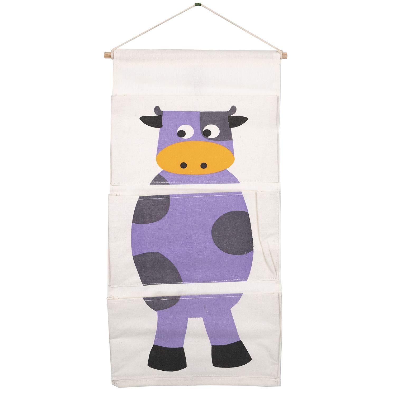 Adorel Hanging Organizer portaoggetti con 3/tasche in tela di cotone