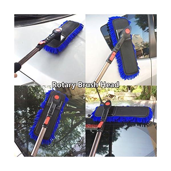 Car Cleaning Wash Brush Duster Clystorm 2017 New Design Microfiber Brush Telescopic Long Handle For Car SUV Caravan Van Window Scratch Free Lint Free Extendable