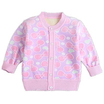 Beide Baby Girls Boys Cartoon Warm Cardigan Button Sweaters