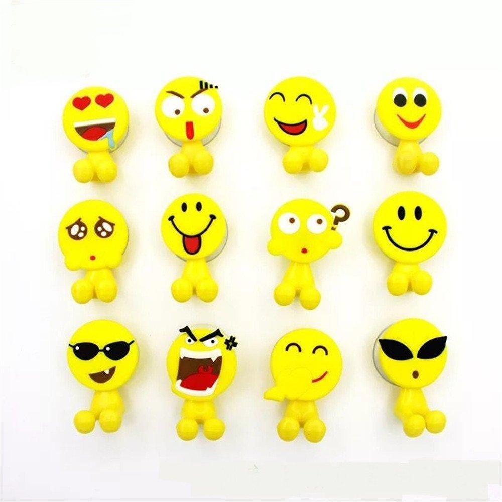 Bambini portaspazzolino con ventosa per montaggio a parete bagno Emojii 5set (pezzi) Creativee