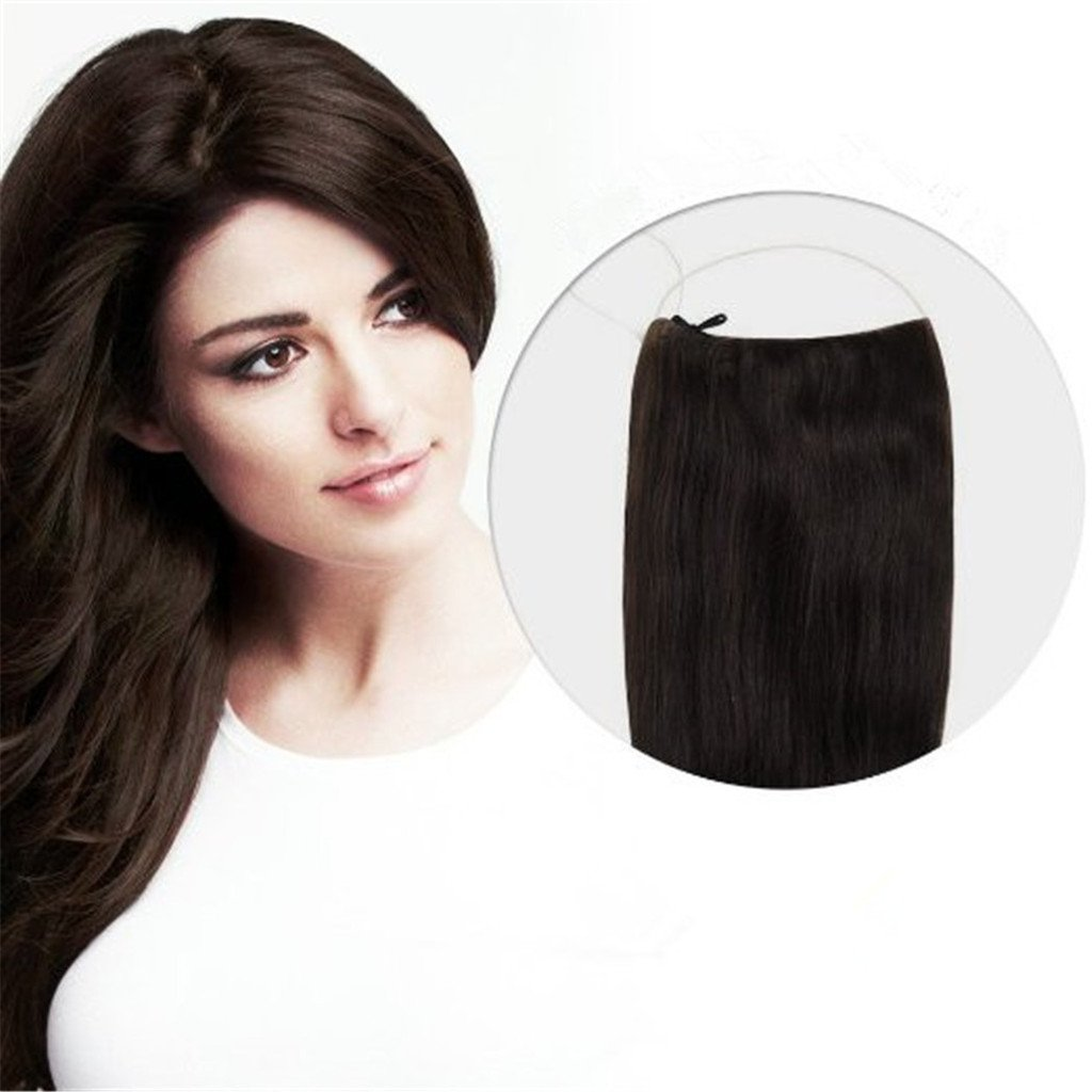 Remeehi New Invisible One Piece Hair Extensions Wire 100 Remy Real