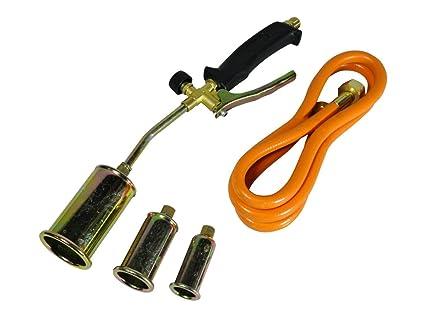 Kit de soplete con quemador de gas propano y butano, manguera y regulador para instaladores
