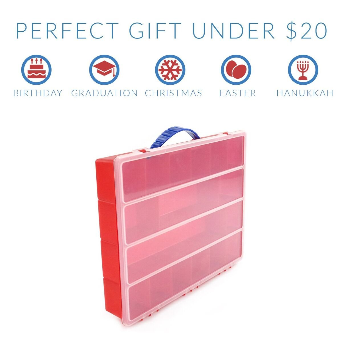 Red LMB100 Life Made Better My Egg Crate Storage Organizer By Compatible with the Hatchimals and Hatchimal Colleggtibles brands Durable Carrying Case For Mini Eggs Easter Eggs /& Speckled Eggs