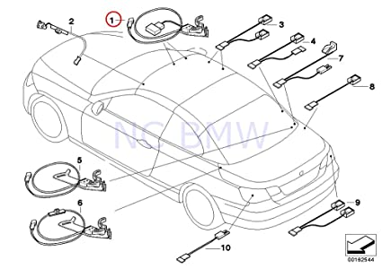 Amazon Com Bmw Genuine Wiring Harness For Lock Motor Automotive