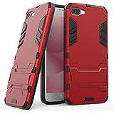 """Coque Asus Zenfone 4 Max Plus ZC554KL, SsHhUu Double Couche Hybrid Armor Antipoussière Antichoc Housse Etui Coque avec Kickstand pour Asus Zenfone 4 Max Plus ZC554KL (5.5"""") Rouge"""
