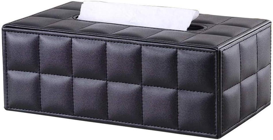 Beige decoraci/ón de coche Automotive Kingfom rectangular piel sint/ética caja de pa/ñuelos de papel Servilletero para la oficina en casa