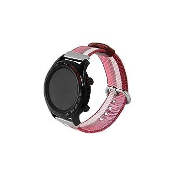 Correa para Huawei Magic/Watch GT/Ticwatch Pro, Banda de Reloj Nylon Tejido