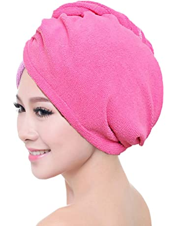 microfibra para adultos secado r/ápido tela toalla de sal/ón azul suave pelo toalla de ba/ño tapa seca art/ículos de ba/ño S/úper absorbente mujeres