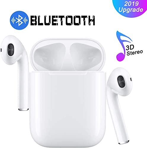 Wireless Earbuds True Wireless Earphone Bluetooth Headphones HD Stereo Sound Wires Design Built-in Mic with Charging Case for iOS Android All sa