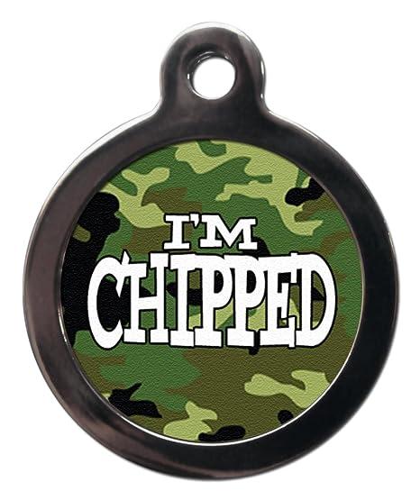 Personalizable I m Chip camuflaje perro perro etiqueta ...