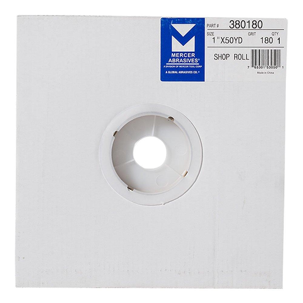 Mercer Industries 381600 Aluminum Oxide Shop Roll, 1-1/2, Grit 600 1-1/2