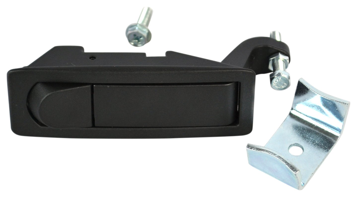 Southco C2-32-15 Series Powder Coated Zinc Alloy Adjustable Lever Hand Operated Compression Latch with Raised Trigger Black Non-Locking Pack of 10