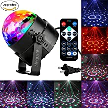 Nequare Disco Lights Sound Activated Strobe Light Disco Ball Dj Lights Party Lights Xmas 7colors Disco light Disco Party Lights Show for Christmas Parties DJ Karaoke Wedding Outdoor with Remote