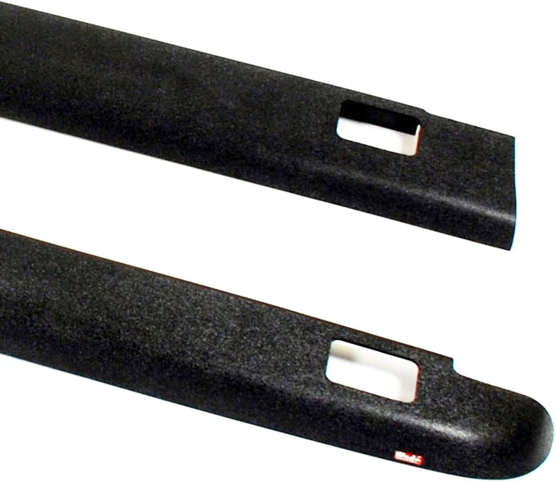 Wade 72-41104 Truck Bed Rail Caps Black Smooth Finish with Stake Holes for 2007-2014 Chevrolet Silverado 1500 2500 with 6.5ft bed Set of 2