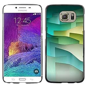 Shell-Star Arte & diseño plástico duro Fundas Cover Cubre Hard Case Cover para Samsung Galaxy S6 / SM-G920 / SM-G920A / SM-G920T / SM-G920F / SM-G920I ( Pastel Tone Waves Minimalist )