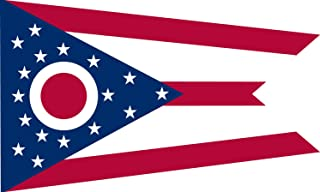 product image for Valley Forge, Ohio State Flag, Nylon, 4'x6', 100% Made in America, Canvas Header, Heavy-Duty Brass Grommets