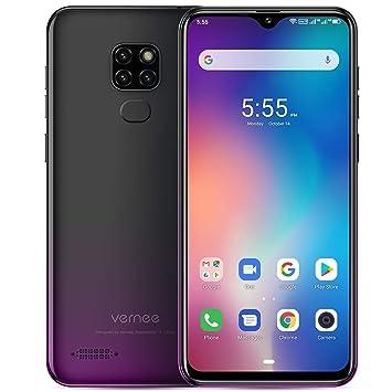 Vernee M7 (2019) Teléfono Móvil Libre Dual SIM 4GB RAM 64GB ROM Triple Cámara Trasera 13MP Frontal 8MP 6.1 Pulgadas 3 Ranura Tarjeta 3500mAh Carga ...