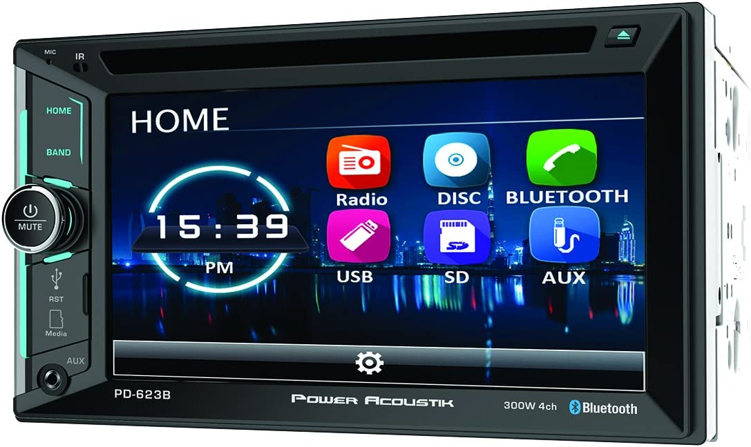"POWER ACOUSTIK 6.5/"" USB DIGITAL MEDIA BLUETOOTH STEREO FREE LICENSEPLATE CAMERA"