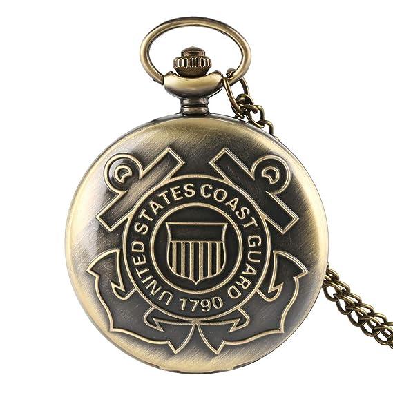 1790 United USA Coast Guard 1790 - Reloj de Bolsillo para Hombre, diseño Vintage de