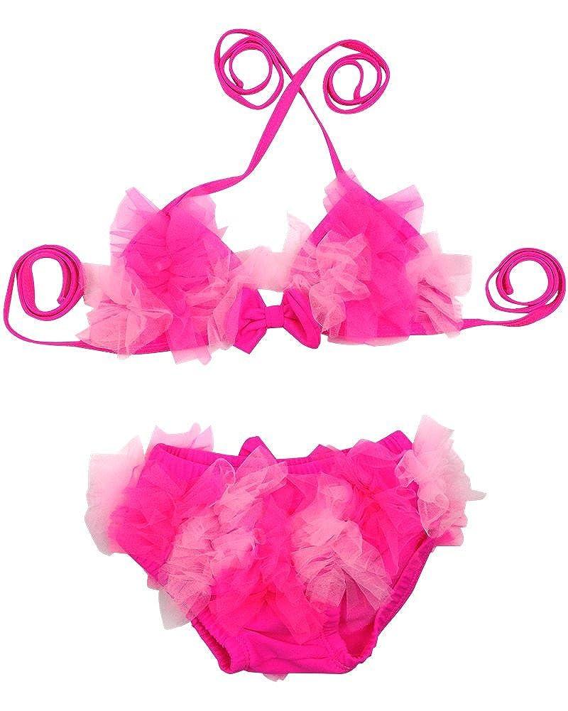 DQdq Baby Girls Two Piece Bikini Set Beach Wear