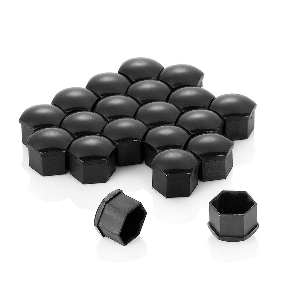 NOTENS 20 piezas tapas de tapas de nueces de coche 17 mm tuercas de rueda tornillos de cabezales de tuercas tapas con herramienta de eliminaci/ón