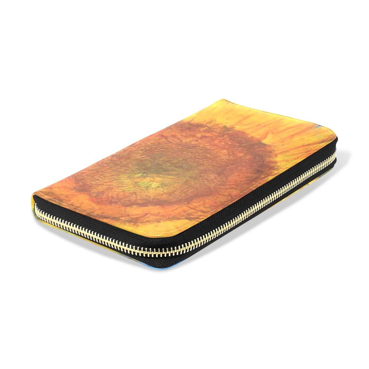 Womens Wallets Sunflowers Vincent Van Gogh Leather Passport Wallet Coin Purse Girls Handbags