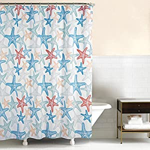 61OmCorv6fL._SS300_ 200+ Beach Shower Curtains and Nautical Shower Curtains