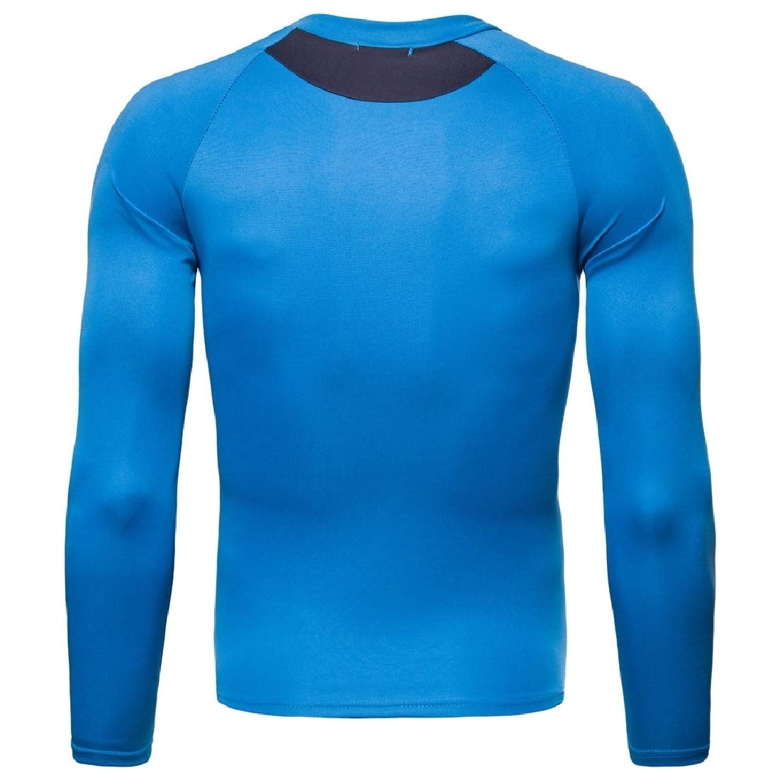 YUNY Mens Crew-Neck Absorb Sweat Quick Dry Gym Fit T-Shirts Tops Lake Blue M