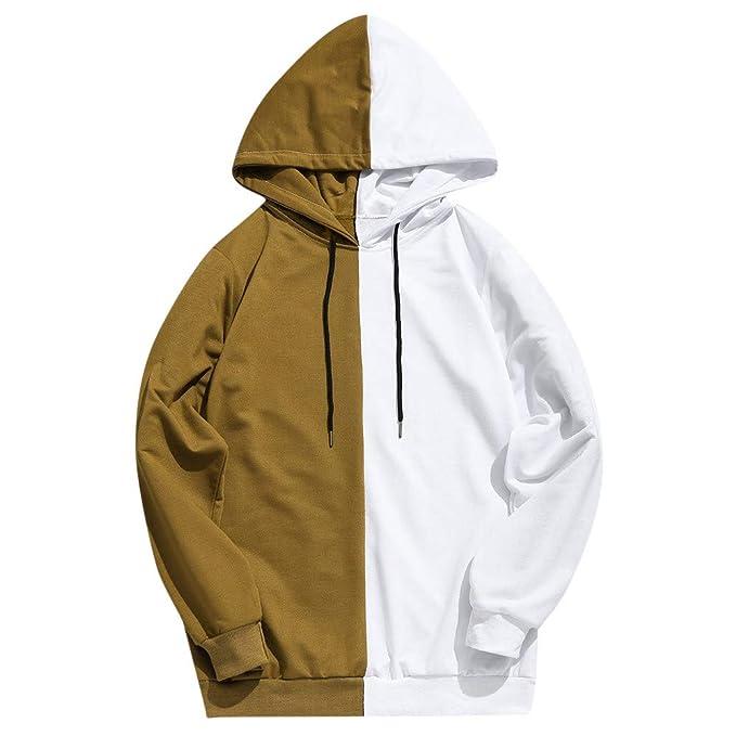 Overdose Sudadera Hombres Patchwork Slim Fit Hoodie OtoñO Moda Outwear Blusa Adolescente Top 2018 Sudadera: Amazon.es: Ropa y accesorios