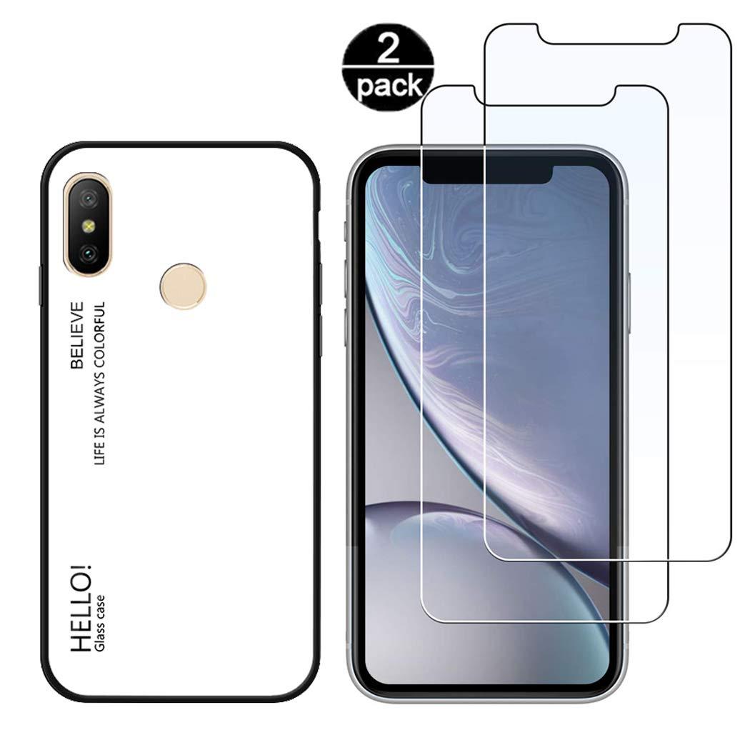 CoqueCase Funda Xiaomi Mi A2 Lite Silicona Suave Flexible Carcasa Redmi 6 Pro Antigolpes Ultrafina Goma Case Ultra Delgado Caso Color Cubierta Protector Bumper Case para Caja Tapa Rosa