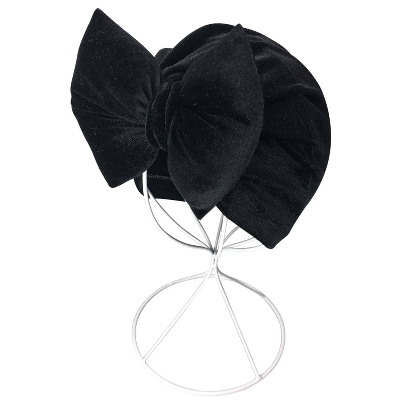 Baby Hat Cap Baby Girl Boy Velvet Cotton Pillow with Bowknot Baby Beanie Turban Autumn,2