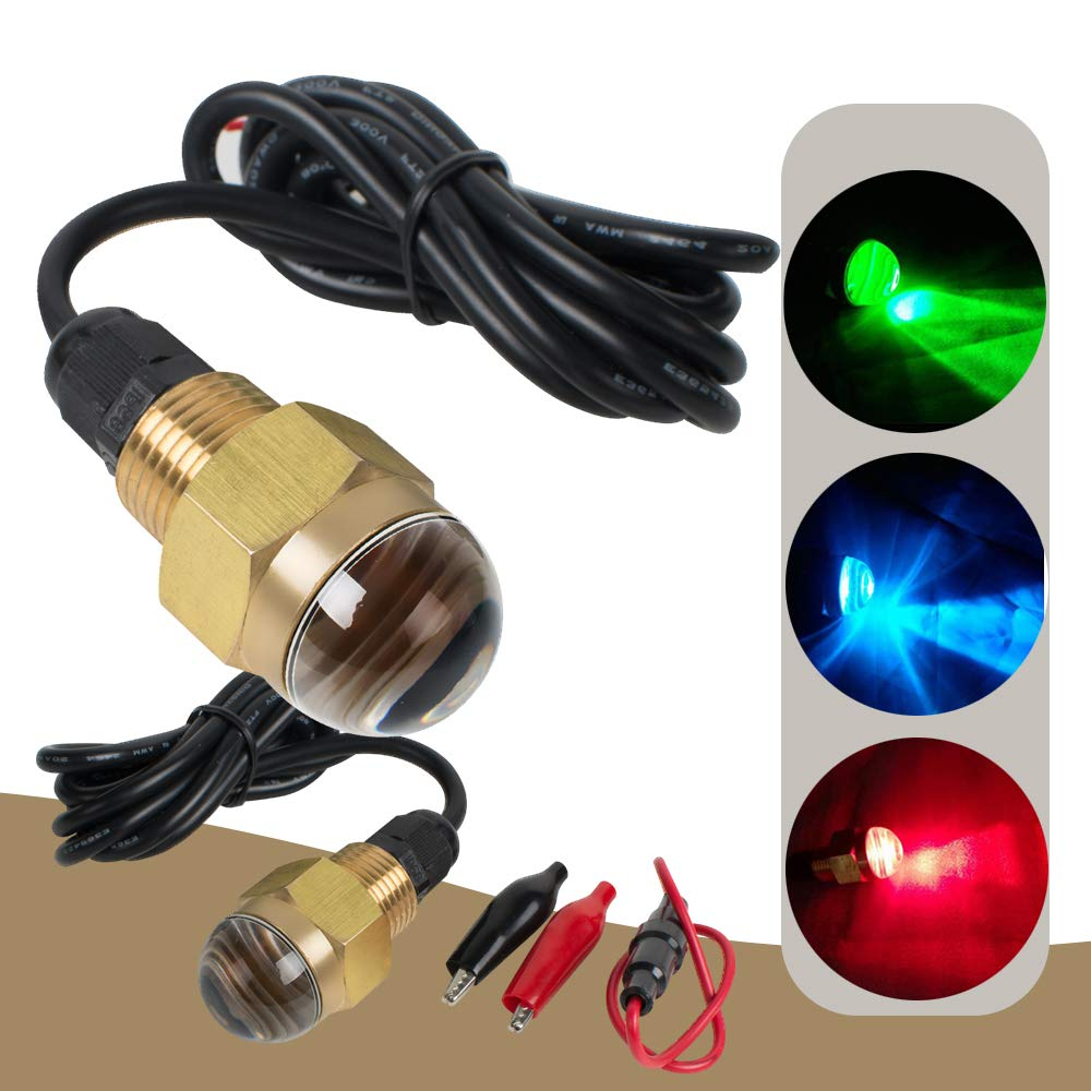 ixaer 12V Underwater Boat Light Bright LED Drain Plug Light 1/2