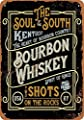QDTrade Vintage Look Tin Metal Sign 8 x 12inch - Kentucky Bourbon Whiskey