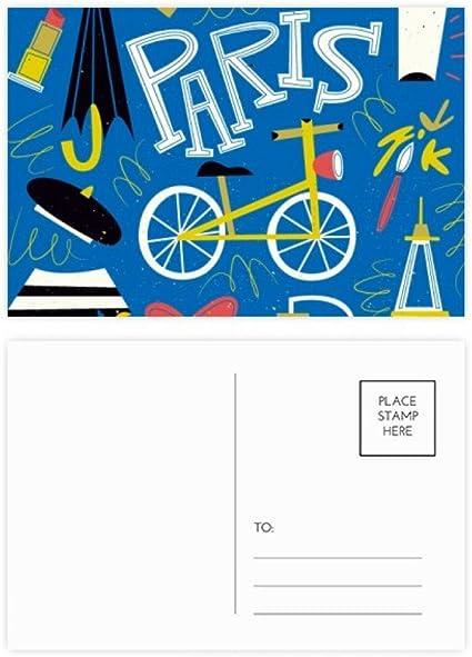 DIYthinker Gracias tarjeta de estilo de vida Francia Marca Landmark Postal de París Conjunto de cumpleaños de correo lateral 20Pcs 5,7 pulgadas x 3,8 pulgadas Multicolor: Amazon.es: Oficina y papelería