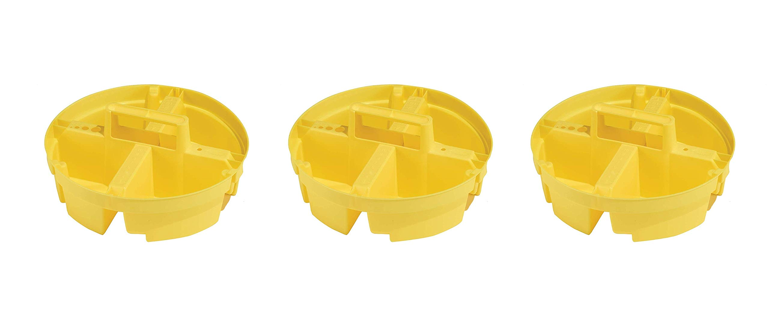 Bucket Boss Bucket Stacker Small Parts Tray in Yellow, 15051 (Тhrее Pаck, Yellow)