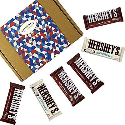 Hersheys Caja De Regalo Selección De Chocolates Americanos - 6 Tabletas - Chocolate Con Leche, Chocolate Con Galletas Y Chocolate Con Nata - Cesta Exclusiva Para Burmonts: Amazon.es: Alimentación y bebidas