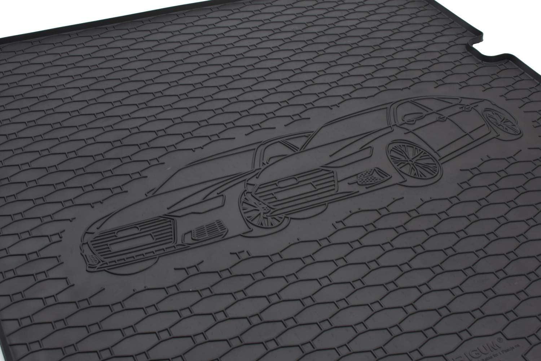 Passgenau Kofferraumwanne geeignet f/ür Audi A6 ab 2018 ideal angepasst schwarz Kofferraummatte Gurtschoner
