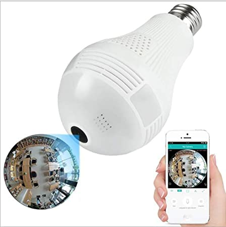 Gaojin Ip Hidden Camera Bulb Bulb Bulb Camera Ebay Panoramic 360 Degree Wifi Led Bulb Wifi Camera Two Way Voice Intercom Mobile Detection Intelligent Alarm Sd Card Maximum 64g Amazon Co Uk Kitchen Home