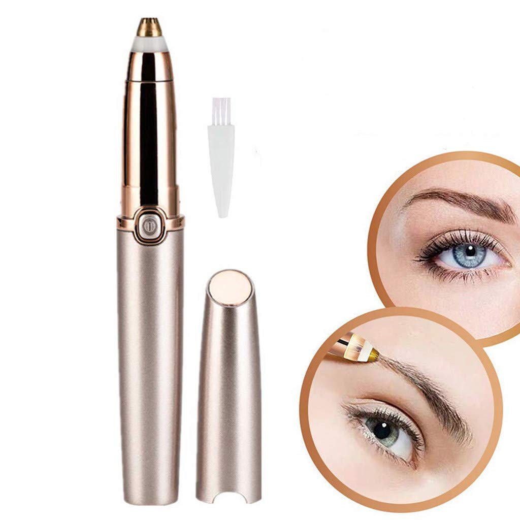Meidexian888 Electric Eyebrow Trimmer for Women,Portable Eyebrow Hair Remover Special ABS + Stainless Steel Blade Material by Meidexian888 Hair Removal (Image #3)