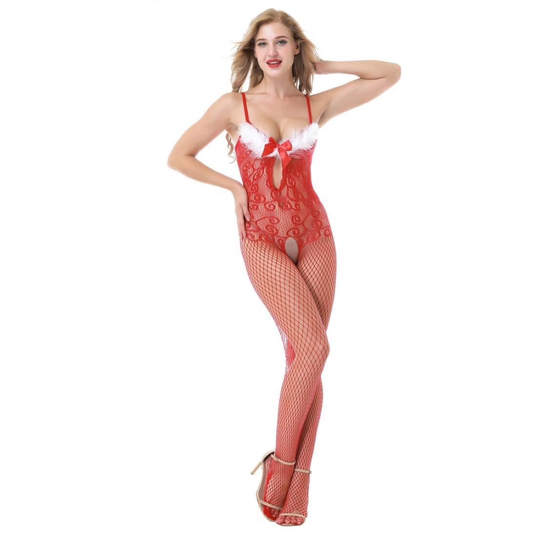 OverDose conjuntos de lencería mujer traje de perspectiva de Navidad para el sexo (busto: 84-106 cm)