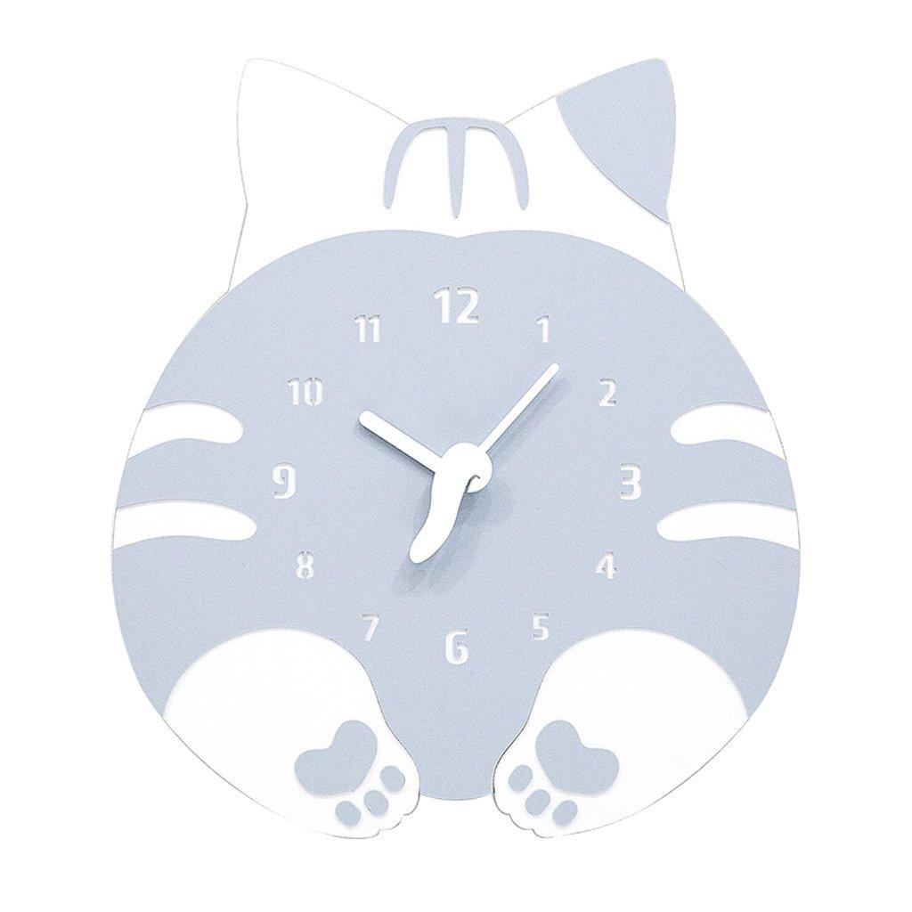 掛け時計 子供のための壁時計サイレント漫画の木製の壁の装飾ベッドルーム幼児の部屋幼稚園の居間の家庭の寝室12インチ UOMUN (色 : C) B07C7QYS8V C C