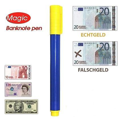 Quick Tester Detector de billetes falsos lápiz Comprobador - Detector de billetes falsos Dinero lápiz