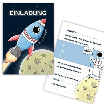 Schön 10 Einladungskarten Zum Kindergeburtstag U0026quot;RAUMSCHIFFu0026quot;  Spaceshuttle, Rakte Für Jungs, Einladungskarten Kindergeburtstag