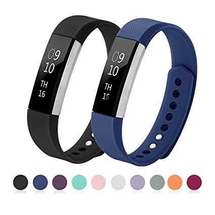 Kutop Bands Compatible for Fitbit Alta, Soft Silicone Adjustable Sports Replacement Strap Compatible for Fitbit